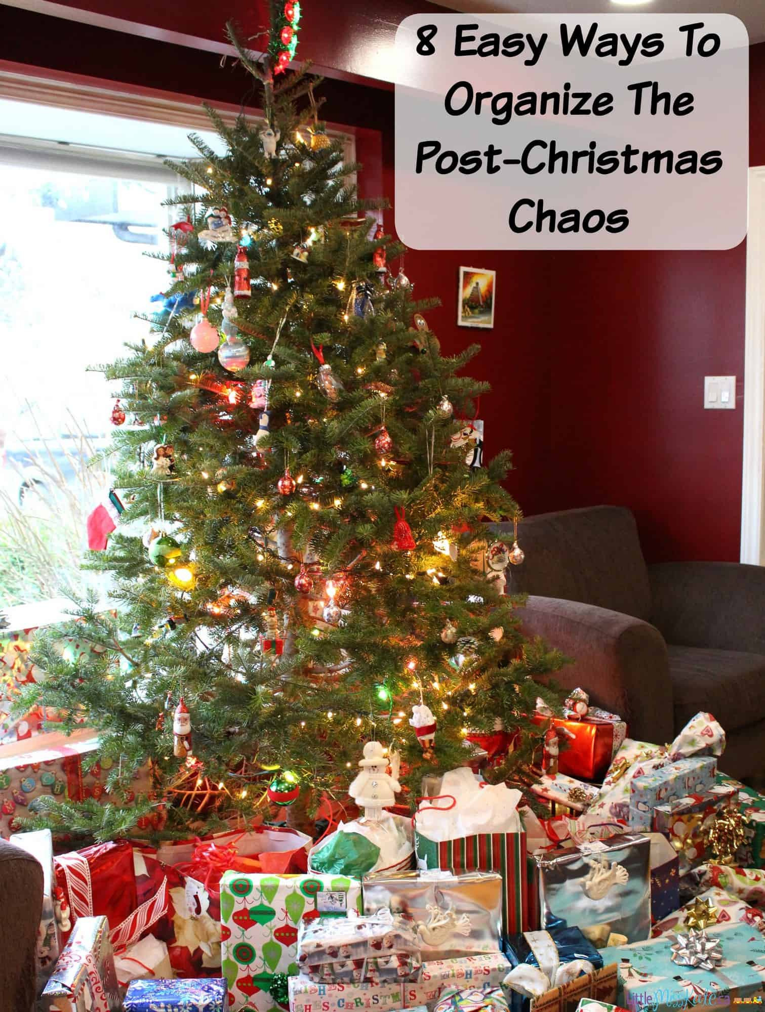 8 Easy Ways To Organize The Post Christmas Chaos