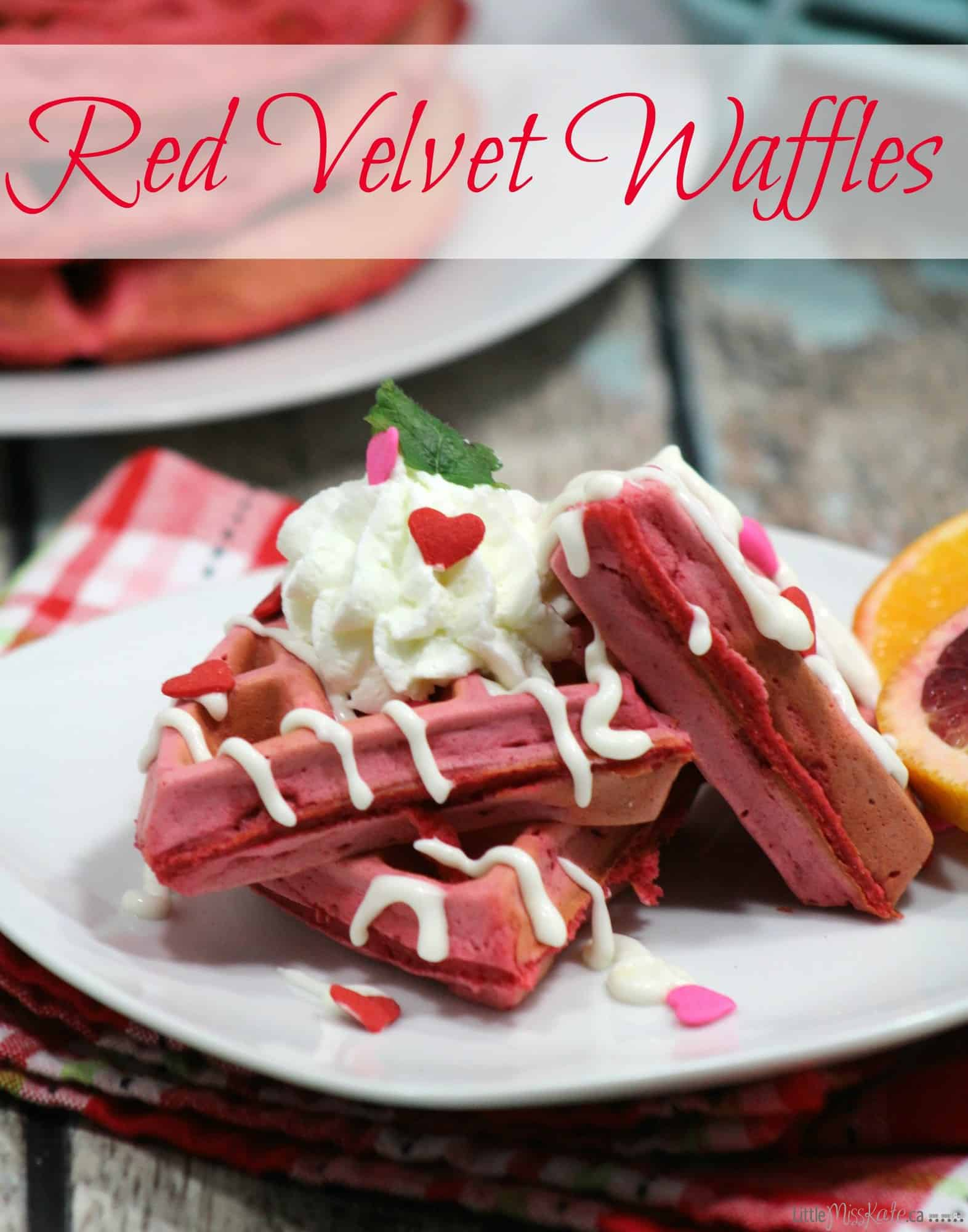 Red Velvet Waffle Recipe A Valentines Day Breakfast Idea
