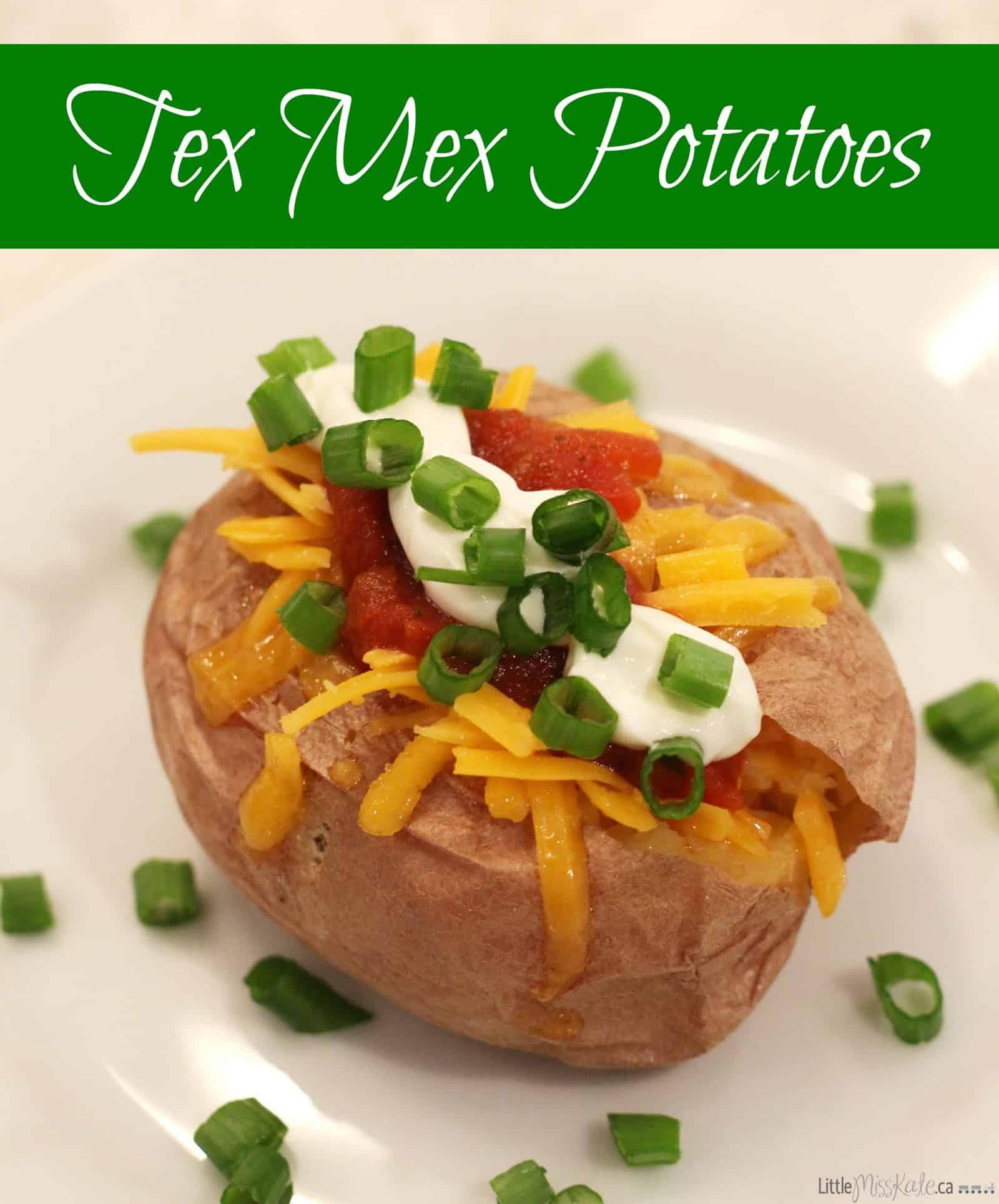 Easy tex mex baked potatoes recipe - Quick side dish idea