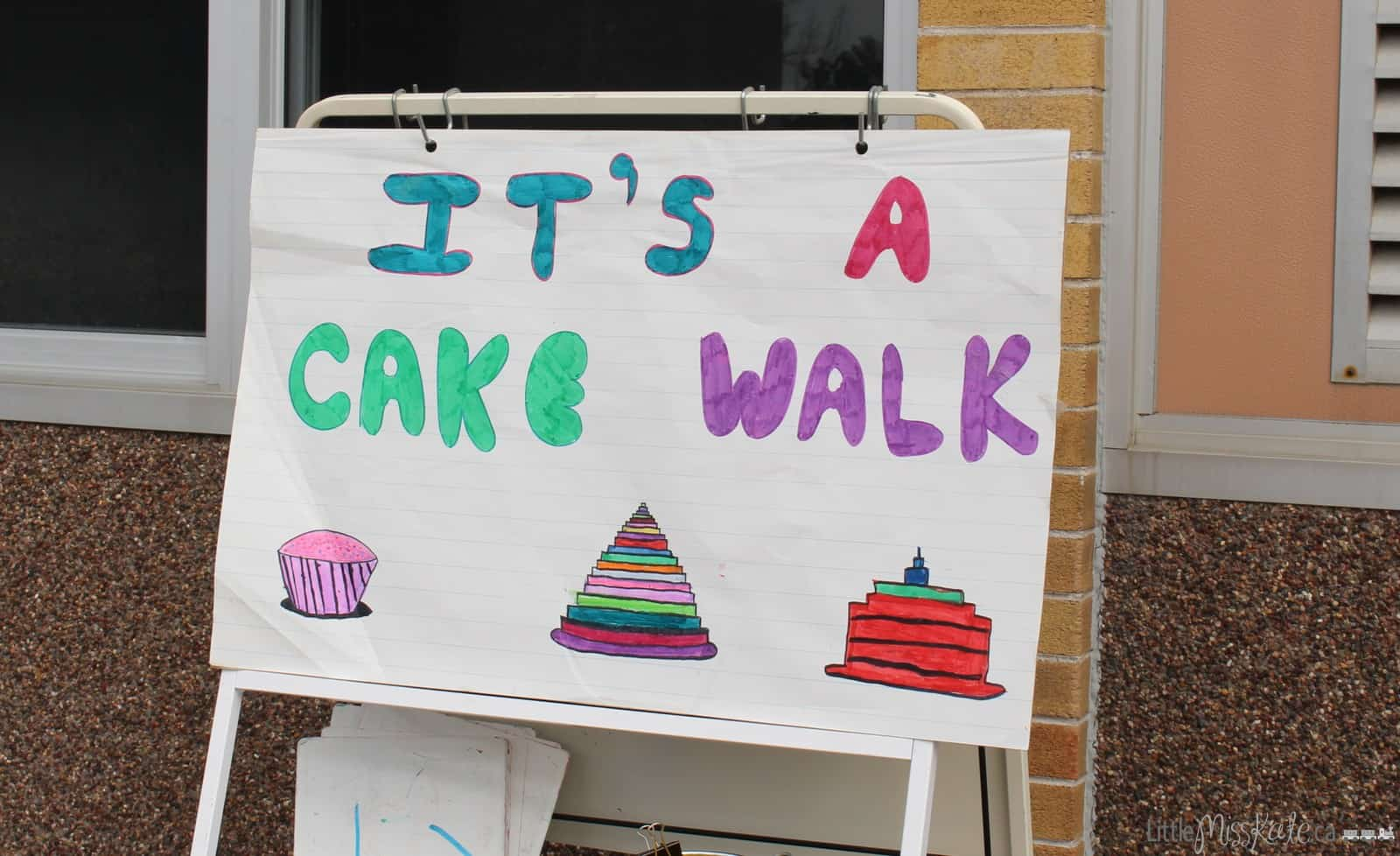 cake walk fundraising game idea for kids
