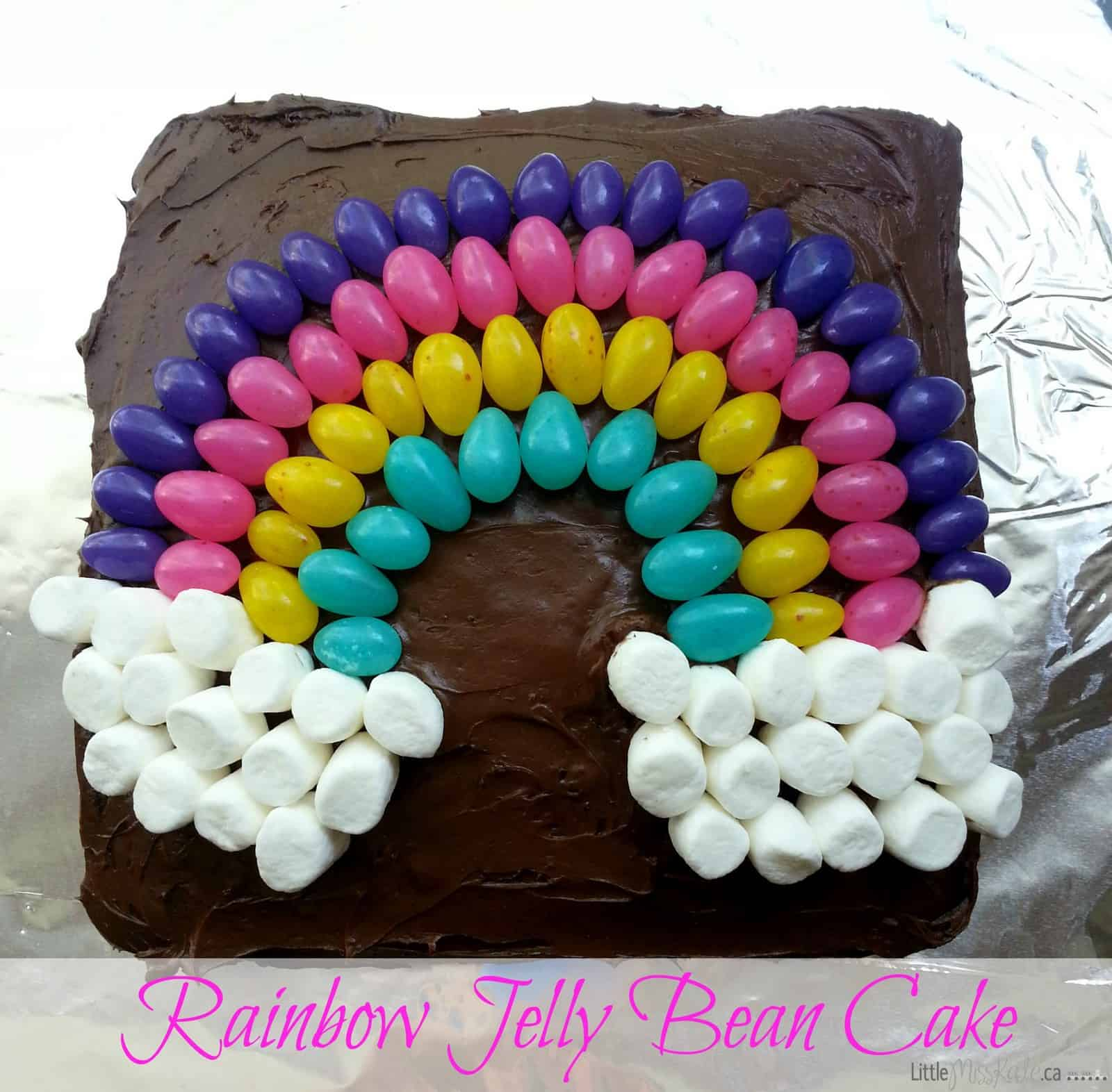 Easy Cake Decorating Idea Jelly Bean Rainbow Cake Little Miss Kate - Homemade cake decorating ideas