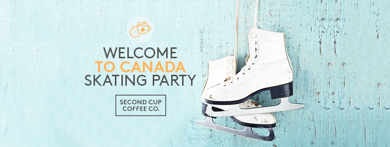 hot chocolate and Skating Party second cup Toronto