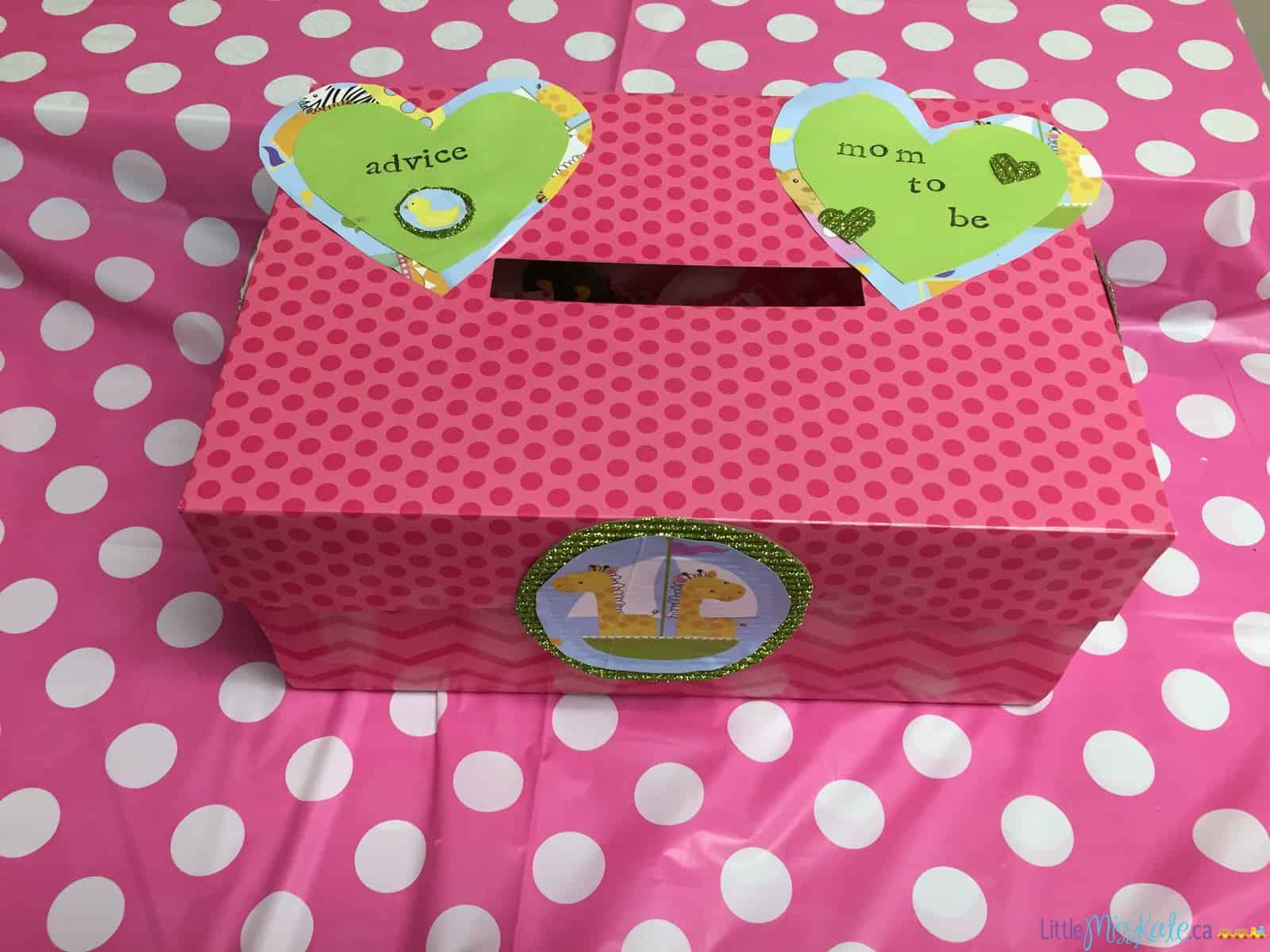 Baby shower game Ideas - Advice & Well Wishes Box