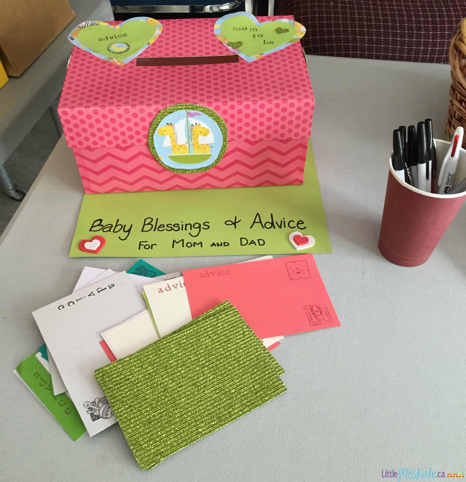 baby shower game ideas advice well wishes box
