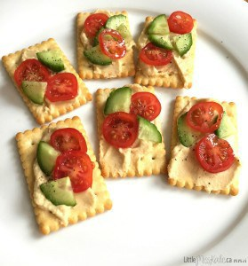 Healthy and Nutritious Hummus Cracker Snacks