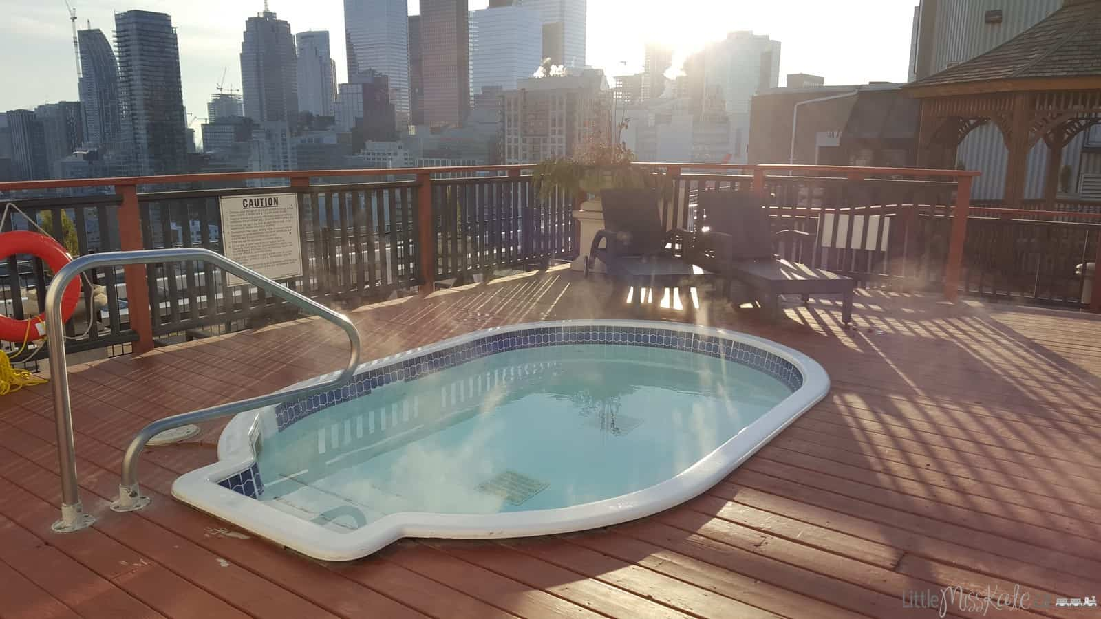 The grand hotel toronto review roof top hot tub and patio