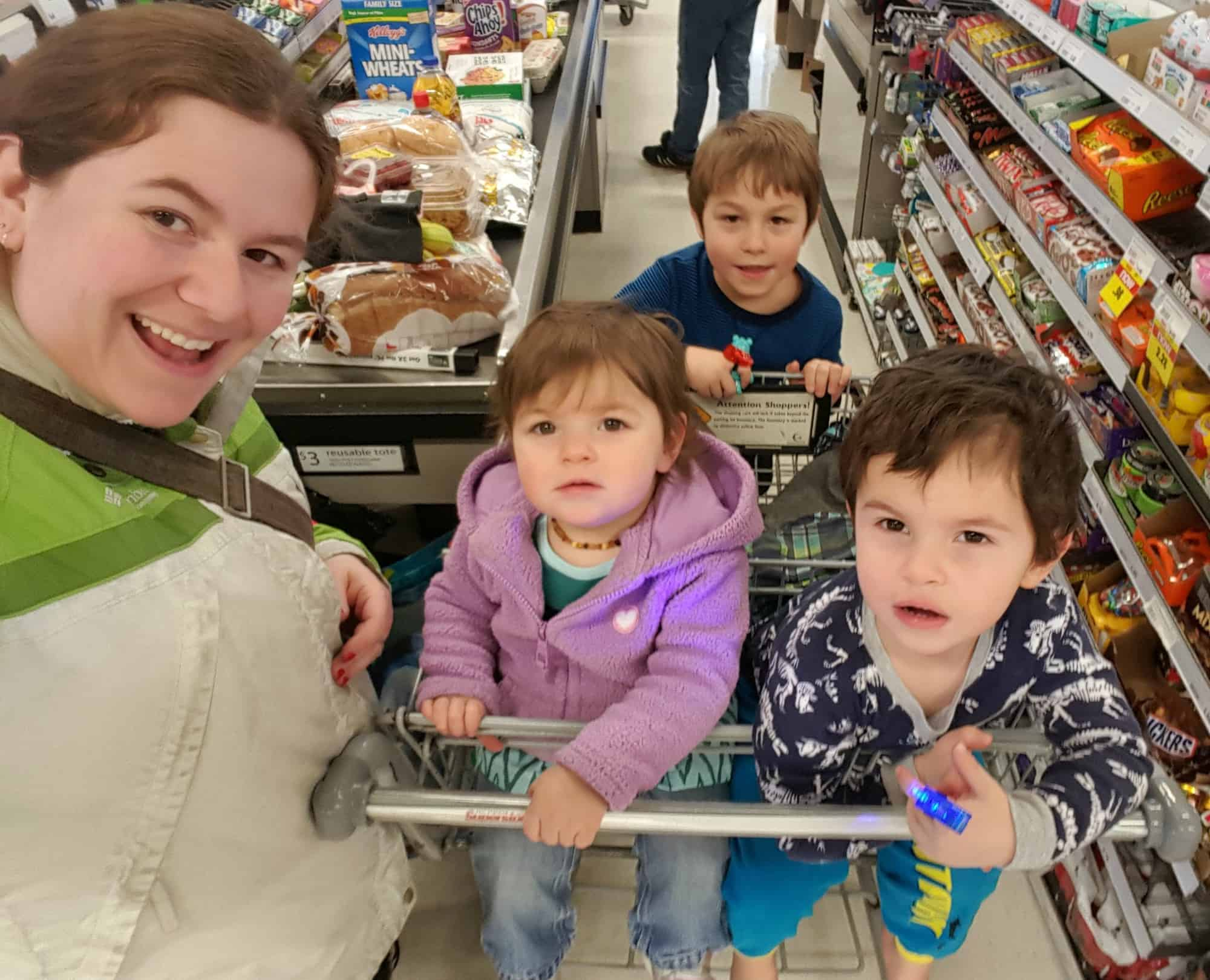 chaos at the grocery store