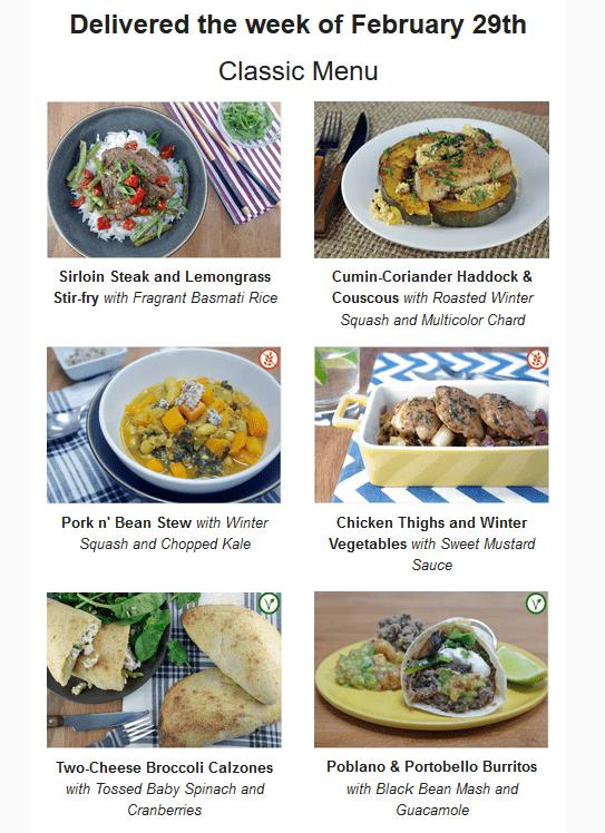 GoodFood recipe options