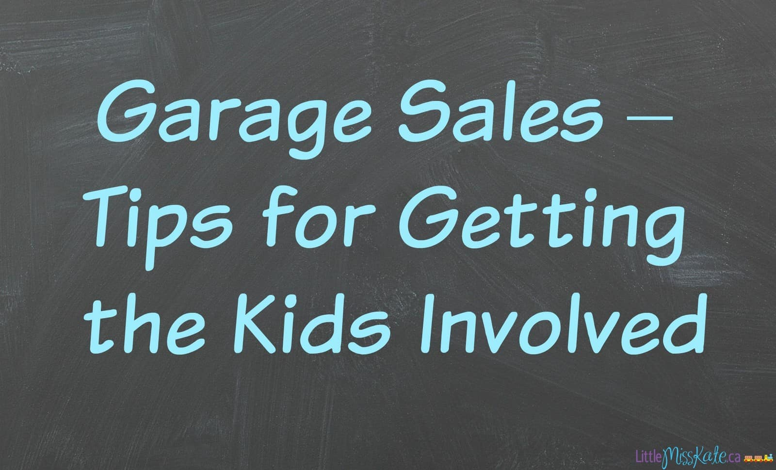 garage sales: tips for getting the kids involved
