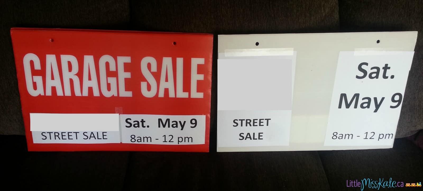 get kids involved in garage sales best way to make signs