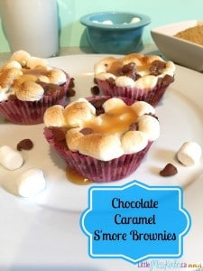 Easy Chocolate Caramel S'more Brownie