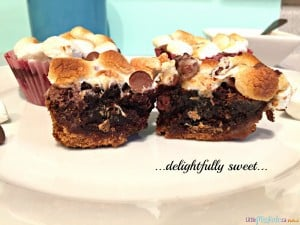 Easy-Chocolate-Caramel-S'more-Brownies-3