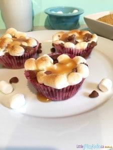 Easy Chocolate Caramel S'more Brownies