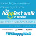 Lets Get Walking for Williams Syndrome #WSHappyWalk