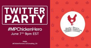 MP chicken farmers twiter party