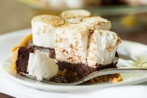 No Bake S'mores Pie by Brown Eyed Baker