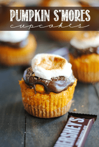 Pumpkin S'mores Cupcakes by Something Swanky