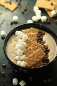 S'mores Smoothie Bowl by Frugal Mom Eh