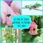 10 Fun & Easy Summer Activities for Kids