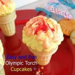 Olympic Inspired Food – Easy and Fun Olympic Torch Cupcakes