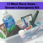 13 Must Have Items – Groom's Emergency Kit