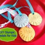 Olympic Craft Idea: DIY Olympic Medals for Kids