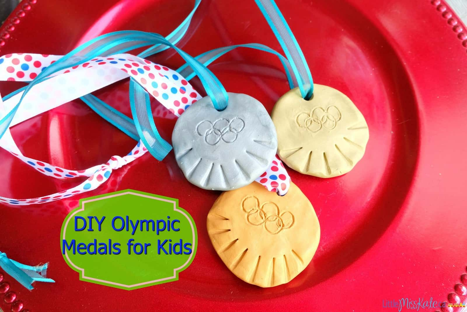 Olympic Craft Ideas - DIY Olympic Medals via LittleMissKate.ca