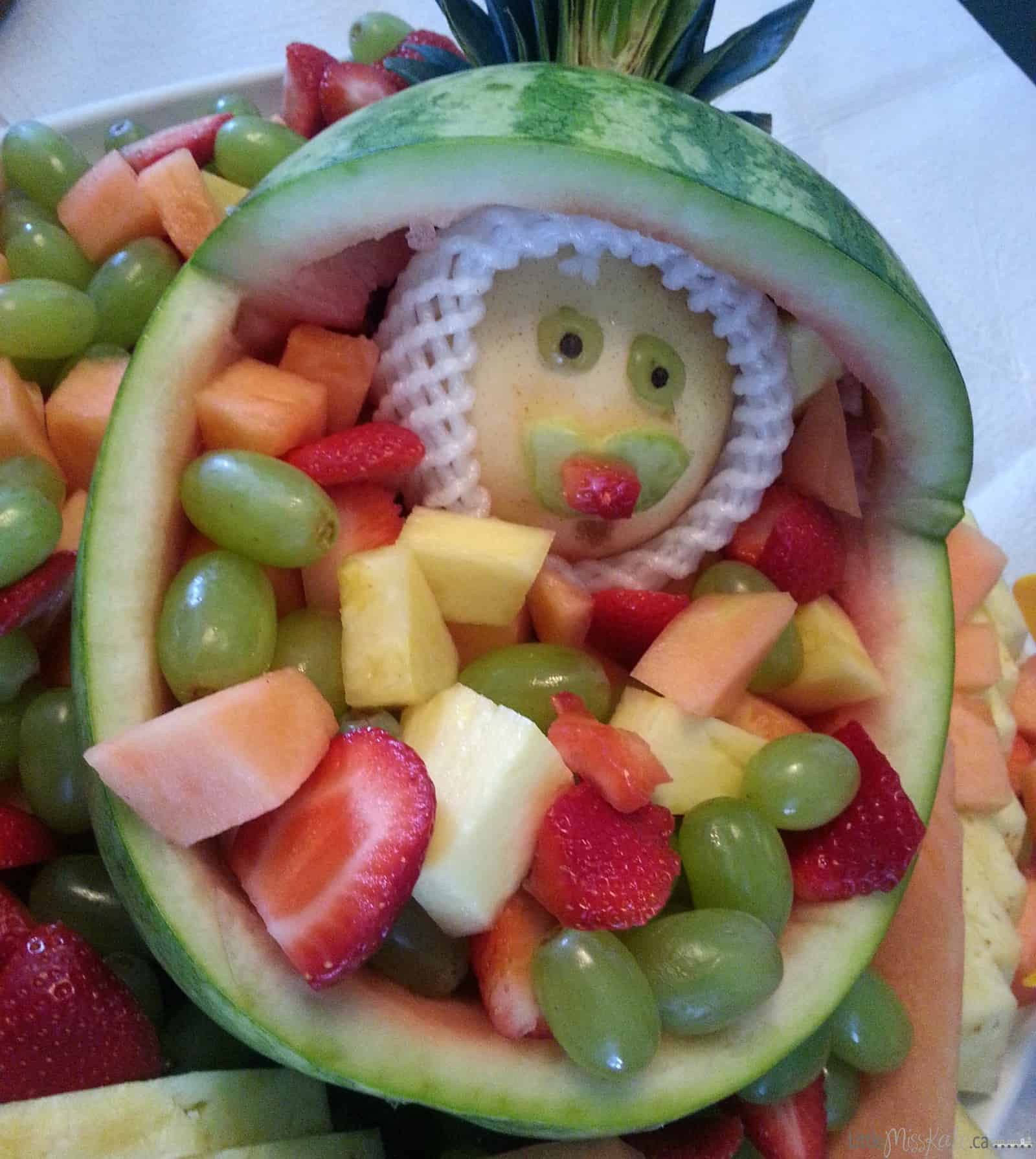 Baby Shower Fruit Salad Bowl Baby Shower Food Ideas Little Miss Kate