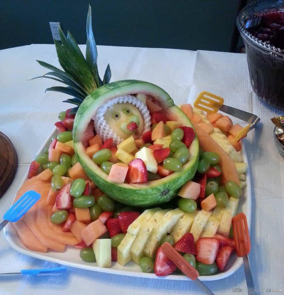 Baby Shower Fruit Salad Bowl