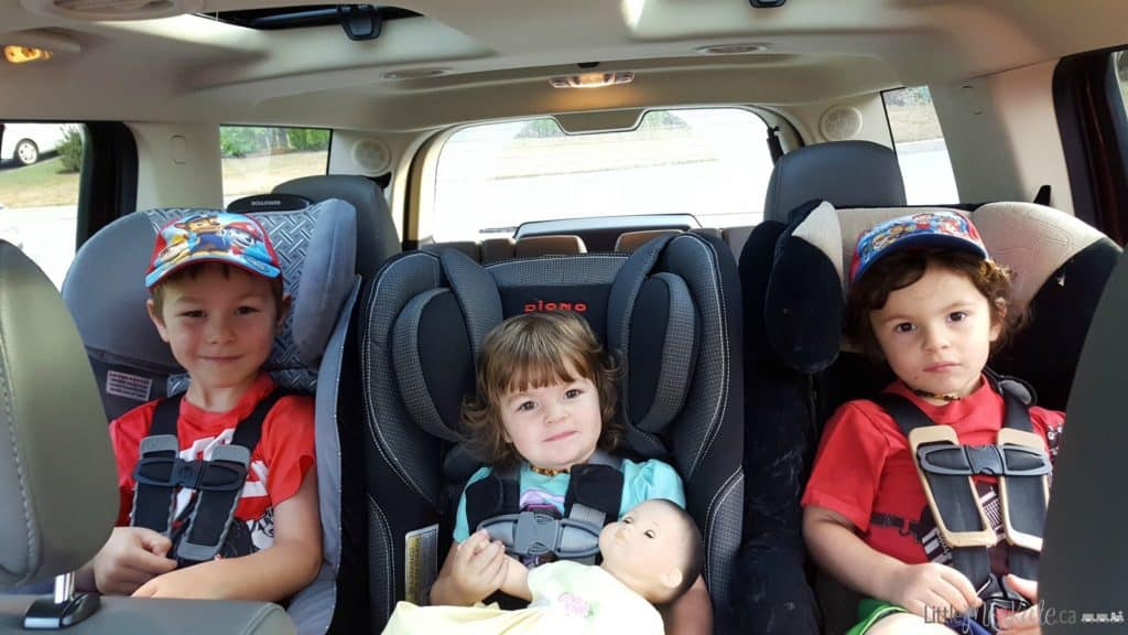 Ford Flex - 3 Car Seats Across in the second row of seating