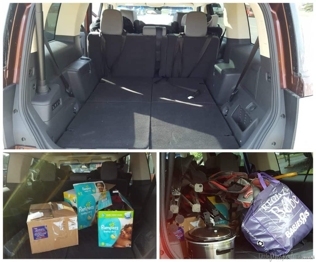 ford flex storage space third row seating down