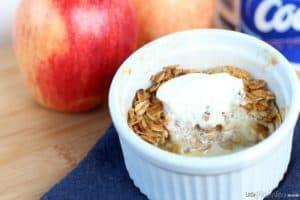 Maple Apple Crisp Recipe by Little Miss Kate