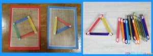 Easy No-Sew Busy Bag Idea - Velcro Popsicle Stick Shapes