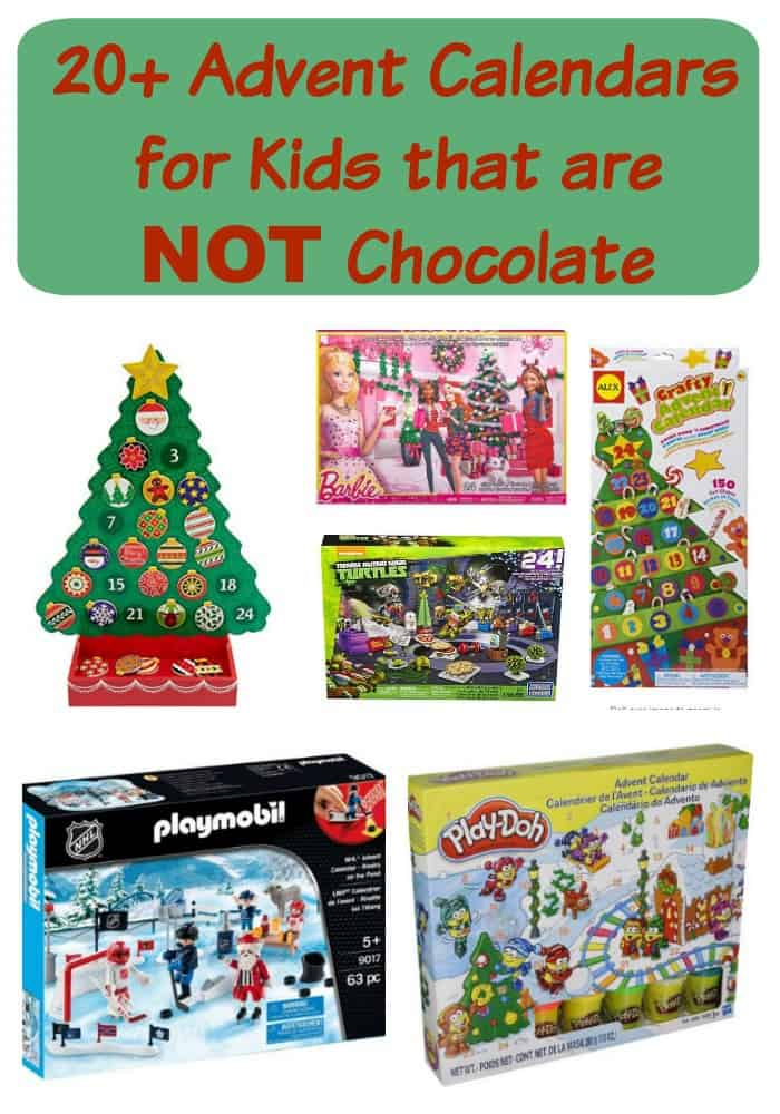 20 advent calendars for kids that are not chocolate Advent calendar non chocolate