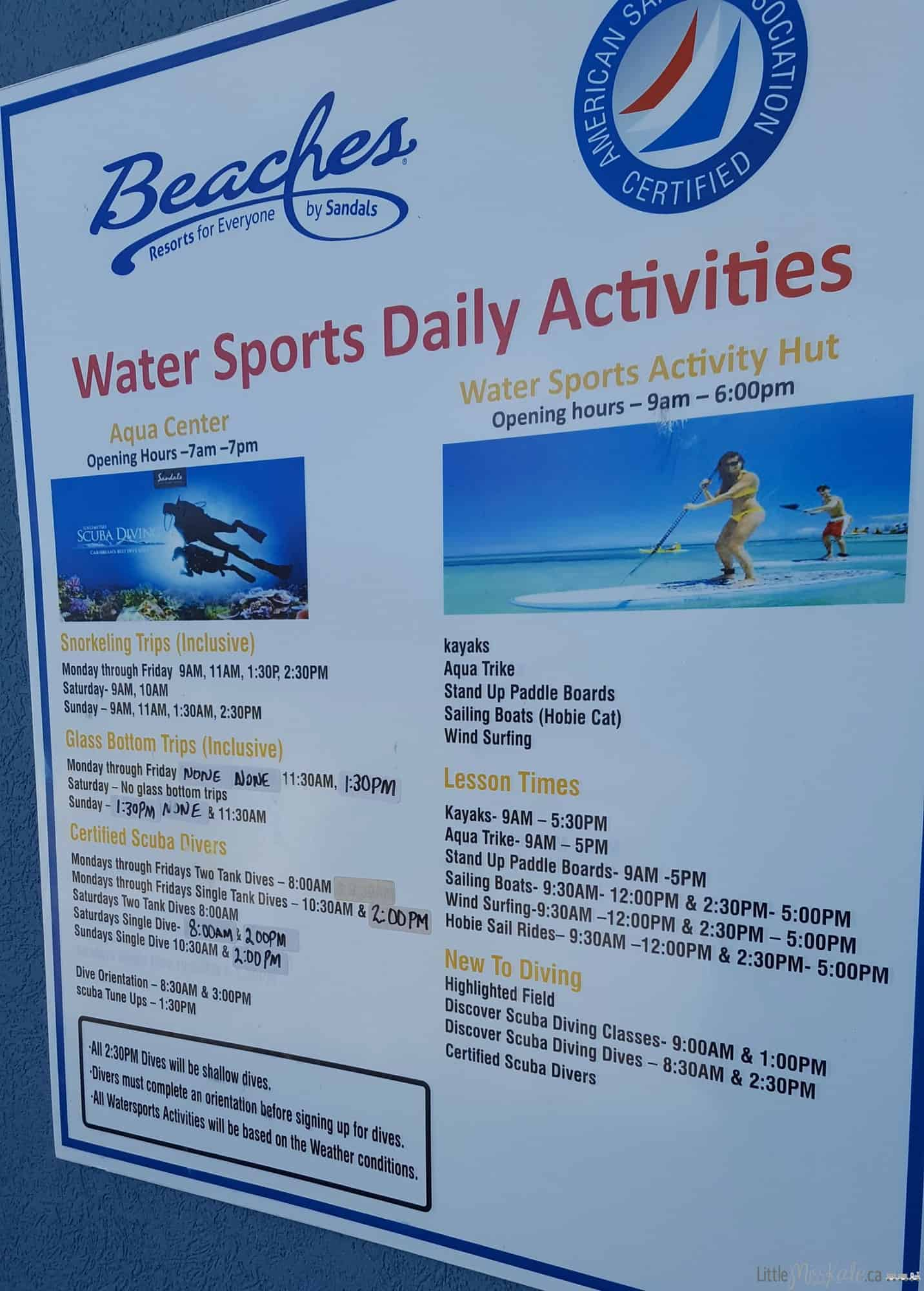 beaches resort turks and caicos review free water activities
