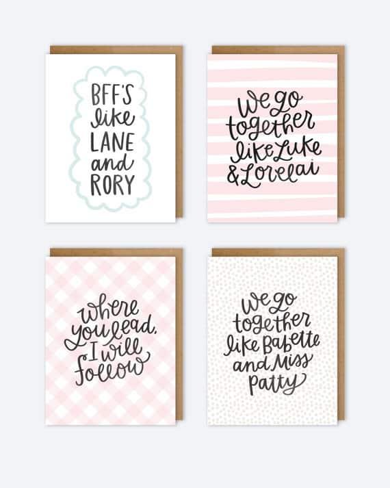 girlmore girls gift ideas gilmore girlscards