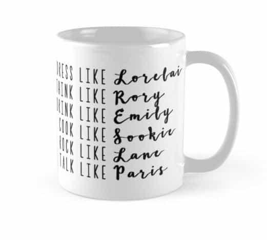 girlmore girls gift ideas mug