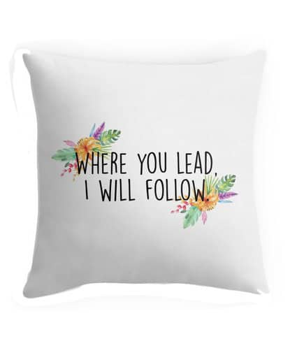 girlmore girls gift ideas where you lead pillow