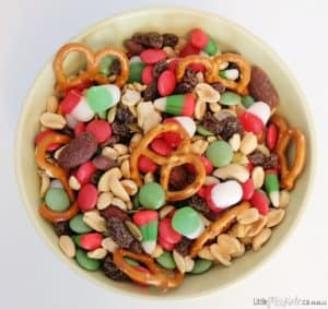 Sweet and Salty Christmas Trail Mix