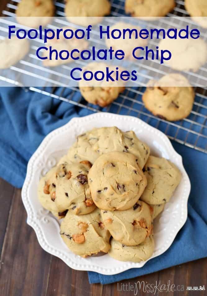 Foolproof Homemade Chocolate Chip Cookie Recipe via Littlemisskate.ca