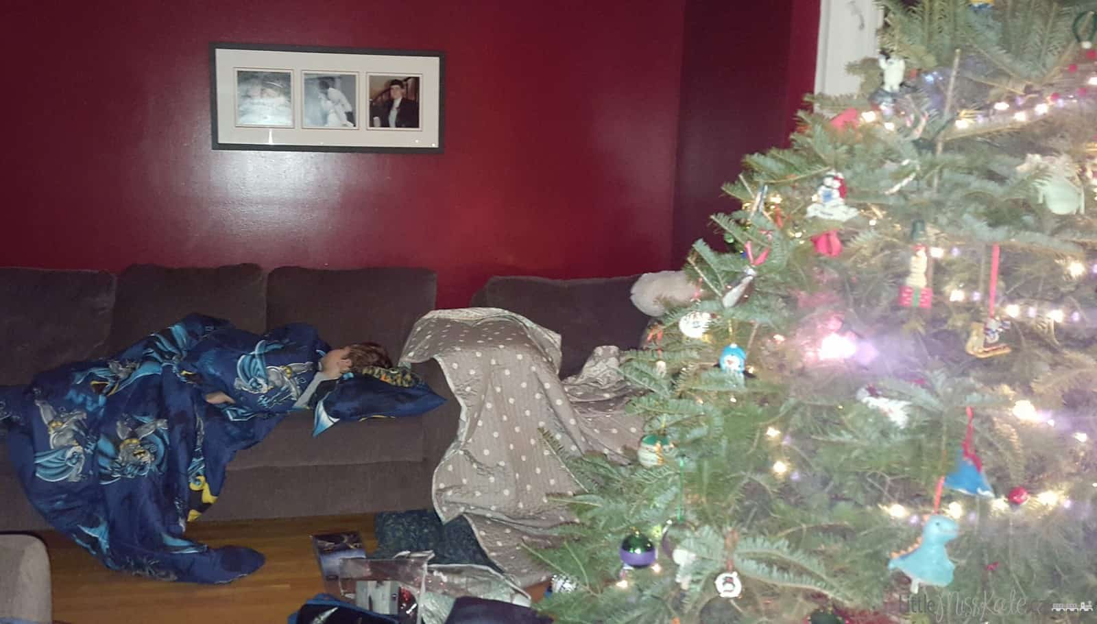 Family Traditions: 10 Ideas You Can Start Anytime sleepover with the christmas tree