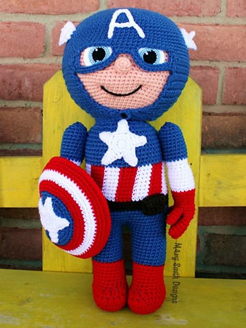 free crochet pattern for boys captain america