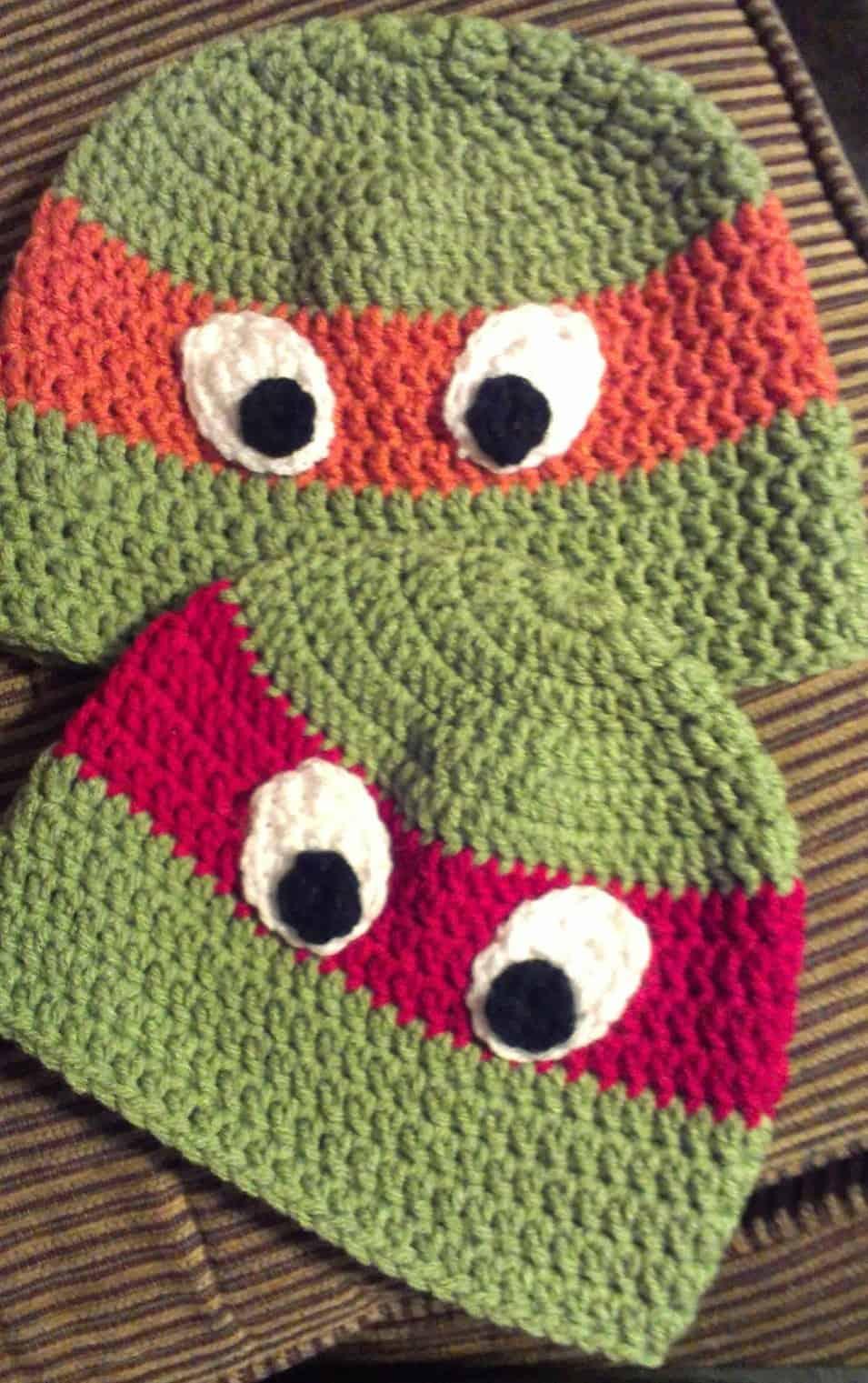 free crochet pattern for boys ninja turtles hat