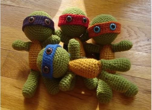 The HUGE list of Free Crochet Patterns For Boys ninja turtle toys
