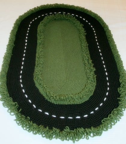 free crochet pattern for boys race car rug