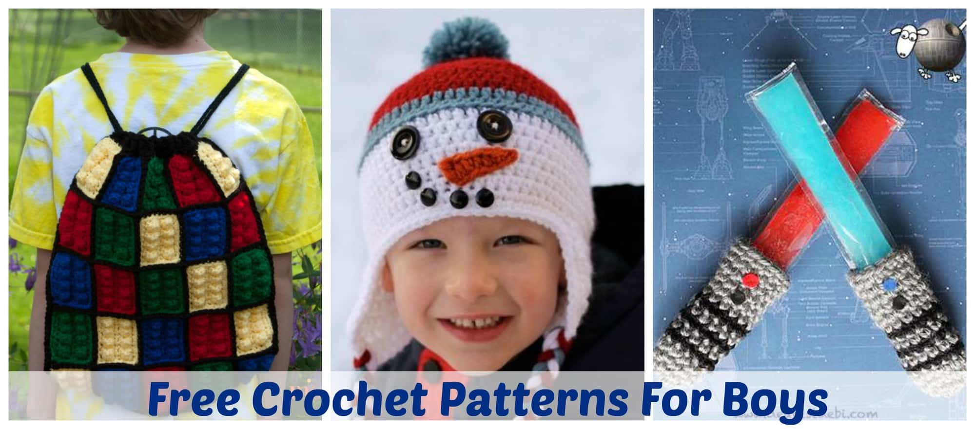 The HUGE list of Free Crochet Patterns For Boys