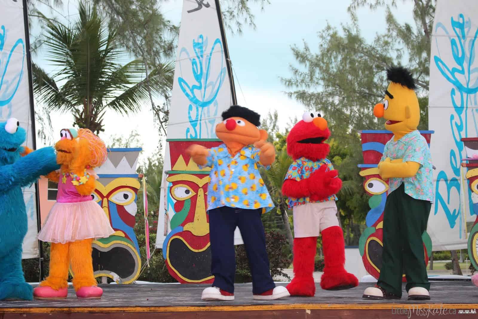 Beaches Resort Turks and Caicos Sesame Street Entertainment Shows via www.littlemisskate.ca