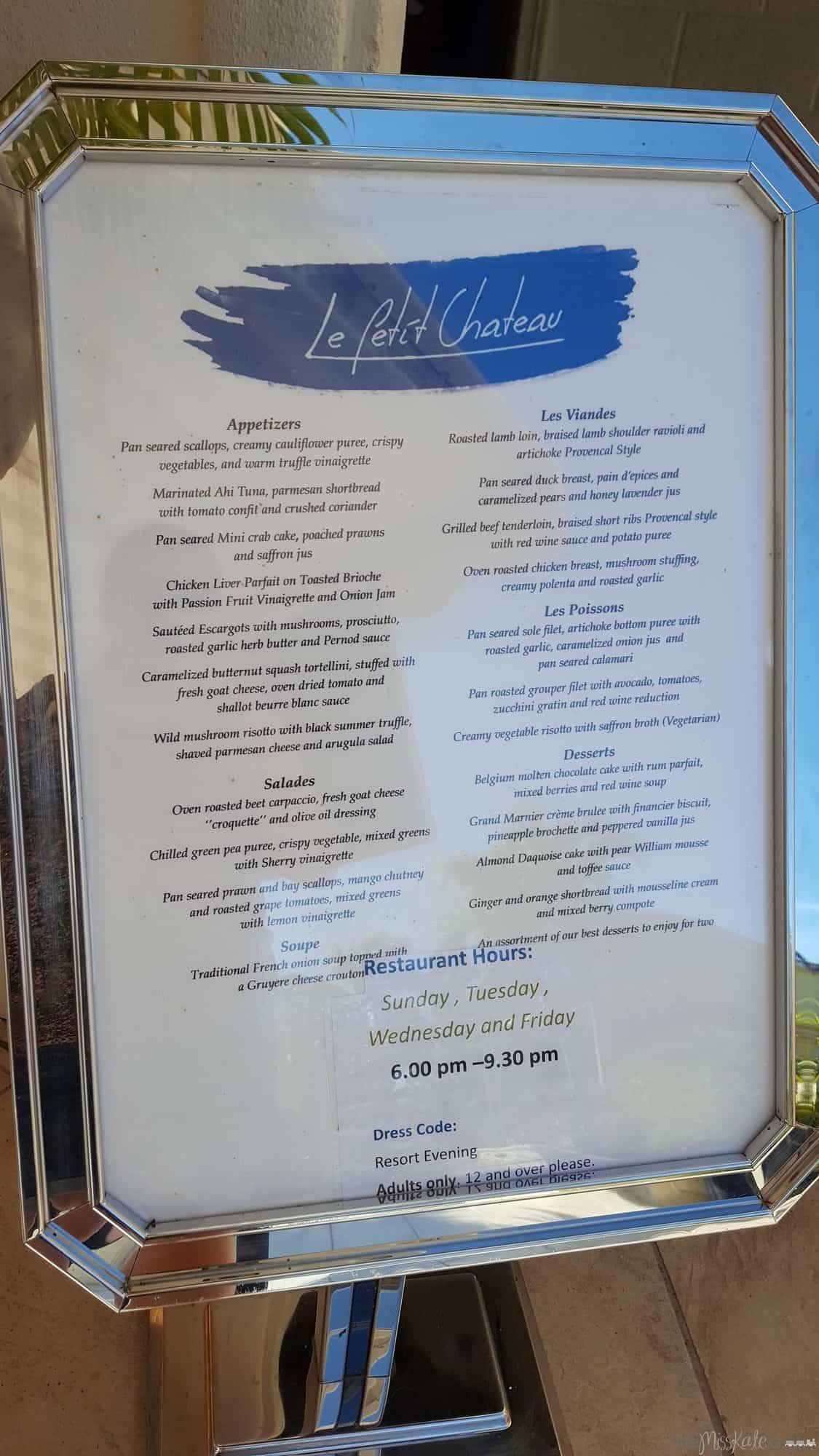 Beaches Resort Villages Turks and Caicos Restaurants - Le Petit Chateu via littlemisskate.ca