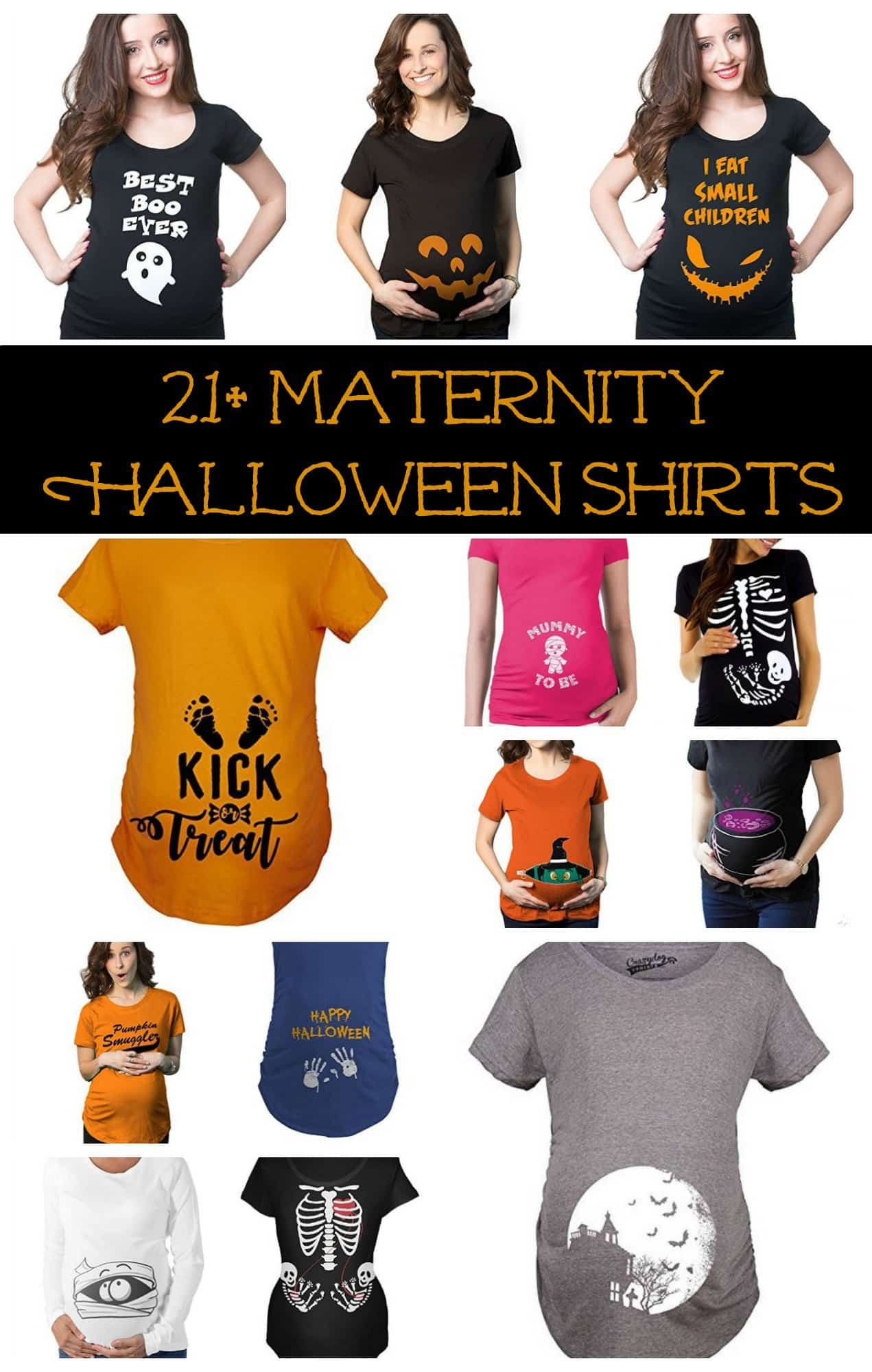21+ maternity halloween shirts for pregnant moms - little miss kate