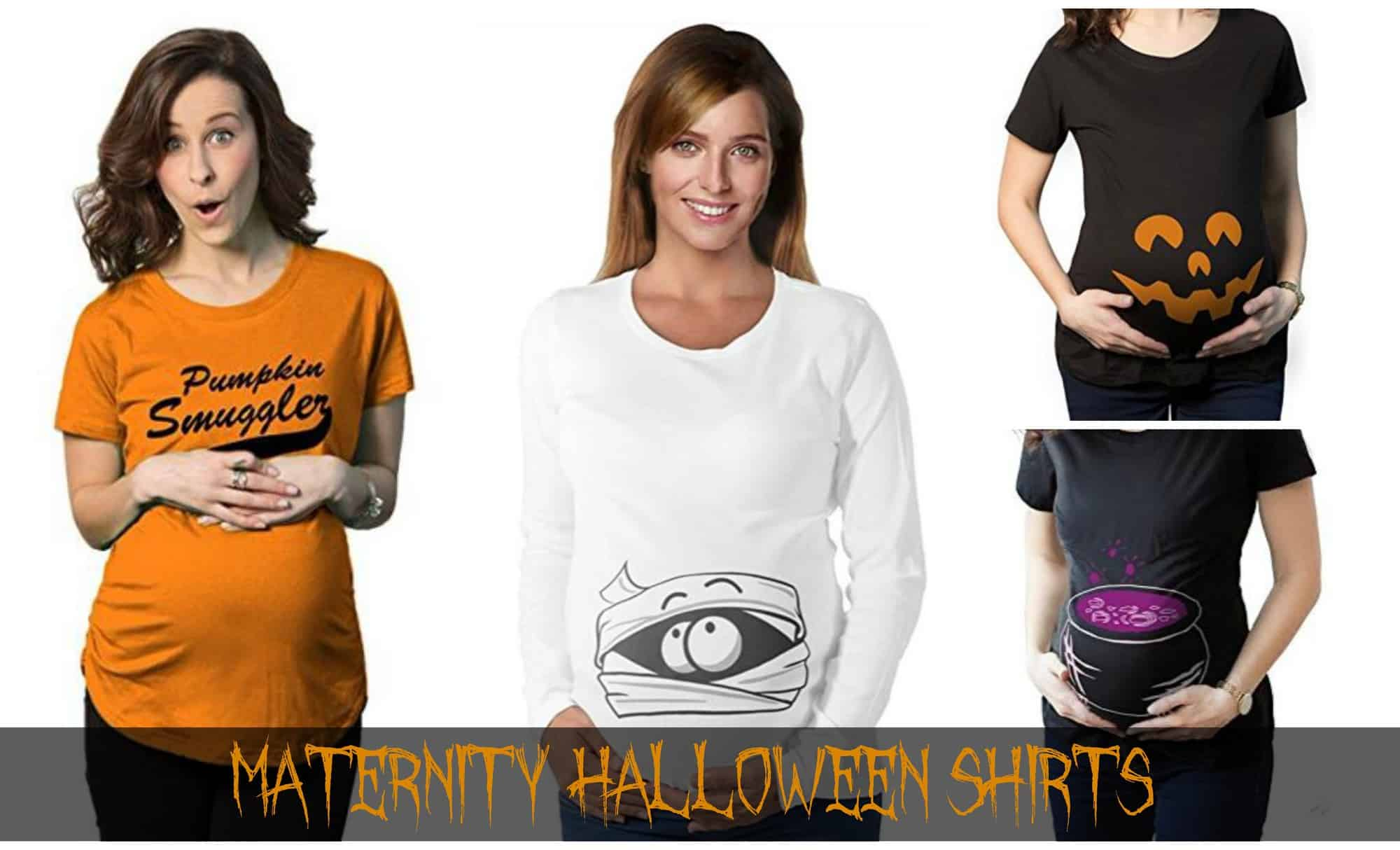 Maternity Halloween Shirts via LittleMissKate.ca
